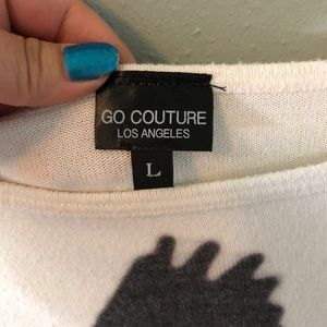 Go Couture Sweaters - Go Couture printed dolman tunic shirt